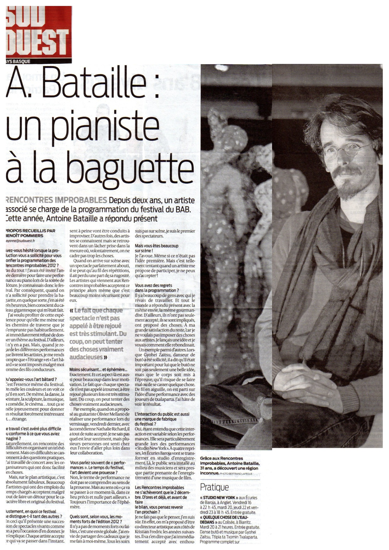 Antoine Bataille - Journal Sud Ouest