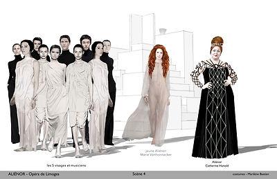 MAQUETTES COSTUMES par Marilène Bastien