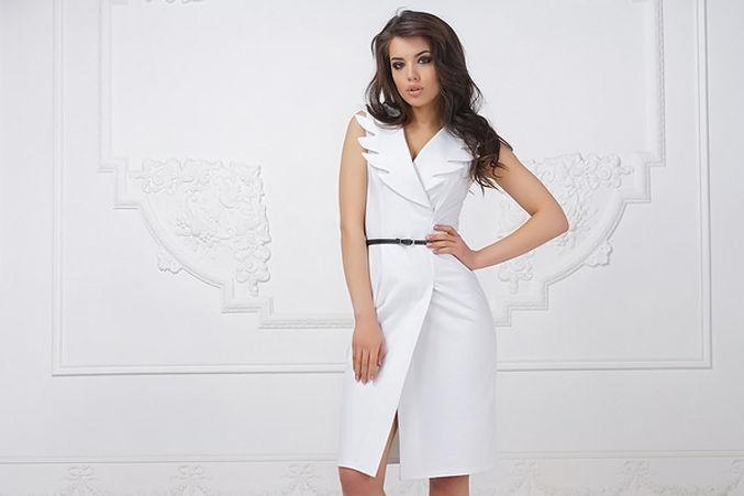 Белое платье, летняя коллекция платьев, платья от российских дизайнеров