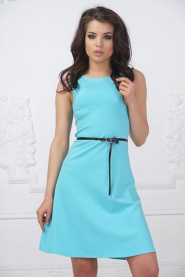 Нежно-голубое, летнее платье от Полины Ефимовой