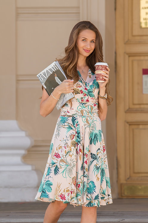 Летнее красивое платье Сирена midi