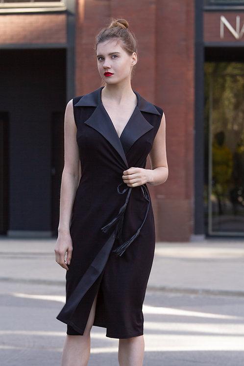 Черное вечернее платье Provocateur