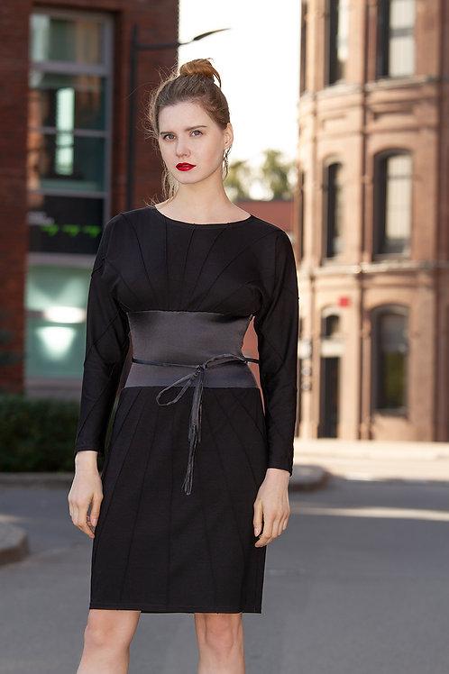 Черное платье из джерси Stream