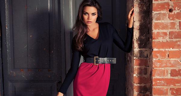 Малиновое платье, платье цвета фуксия, трикотажное платье от российского дизайнера, трикотажное платье, розовое платье, платье свободного покроя