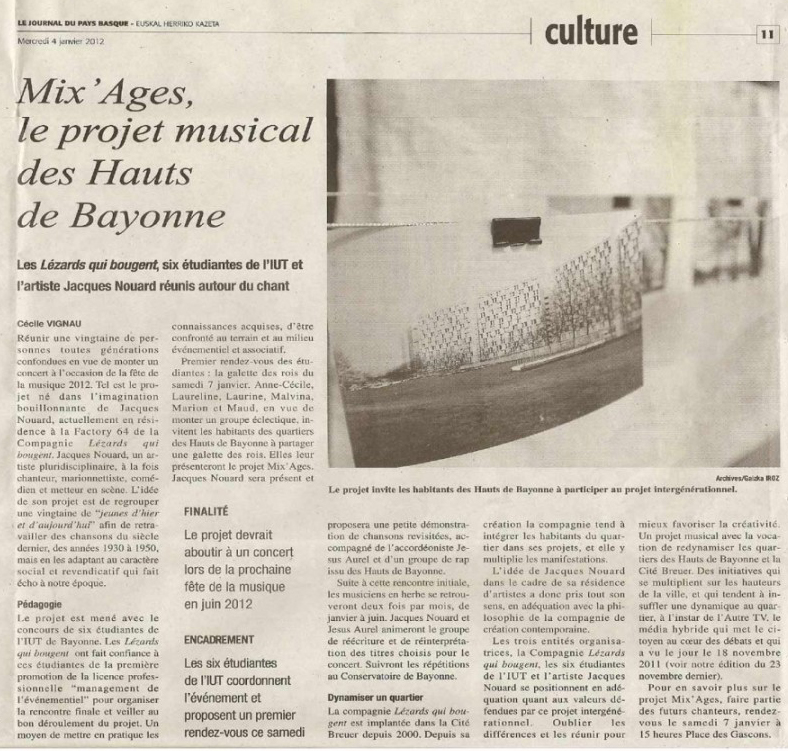 Mix'ages - Journal du Pays Basque