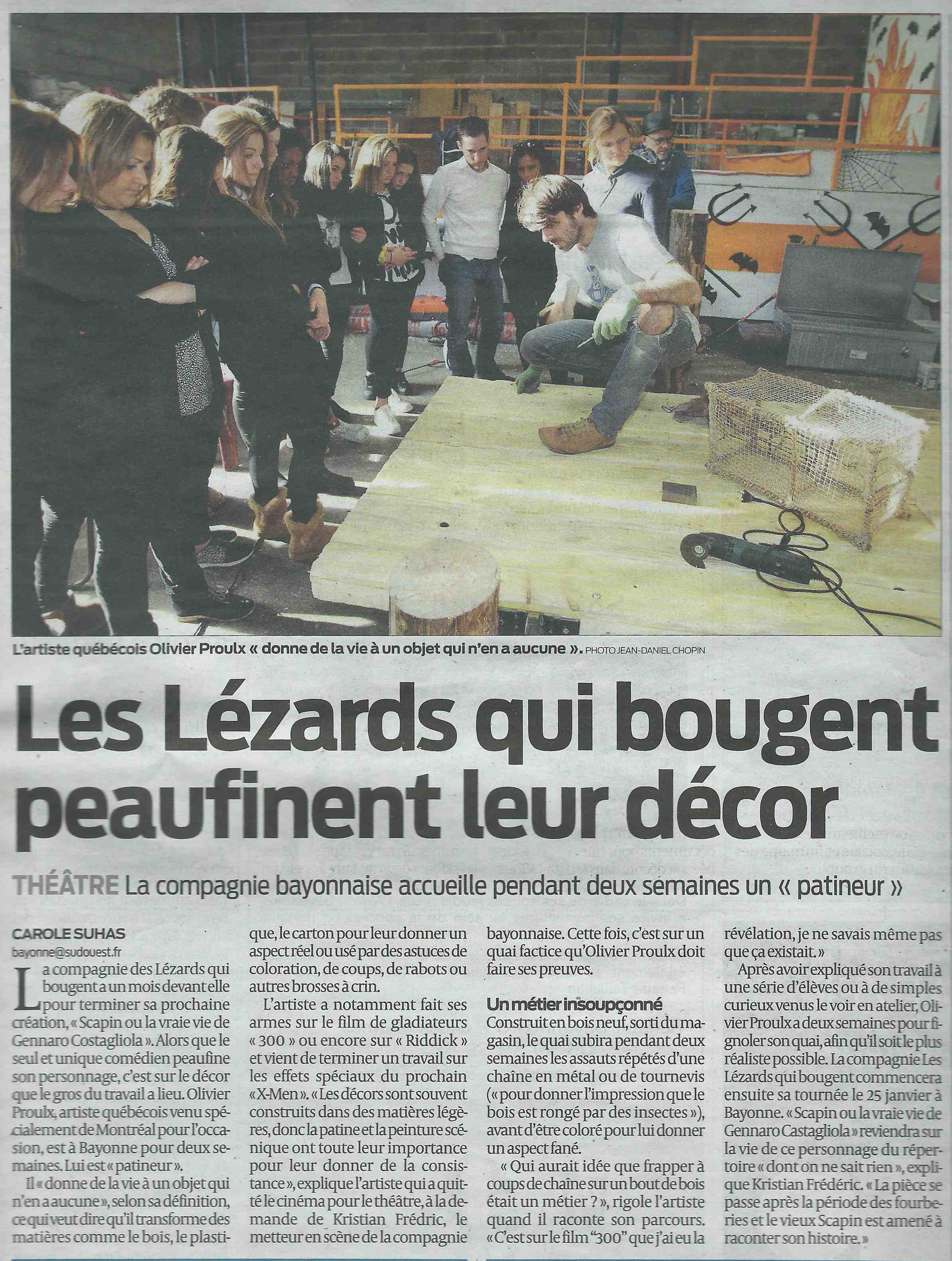 Patines du decor - Journal Sud-Ouest