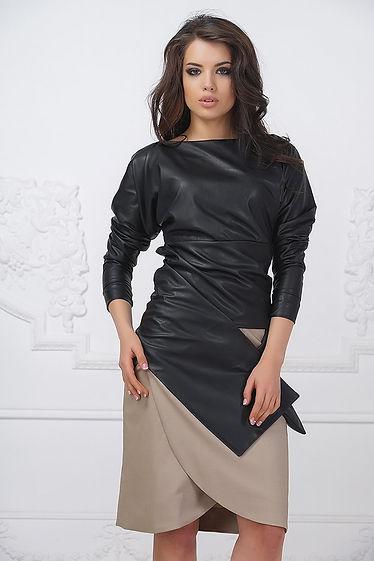 Кожаная, дизайнерская куртка от российского дизайнера Полины Ефимовой