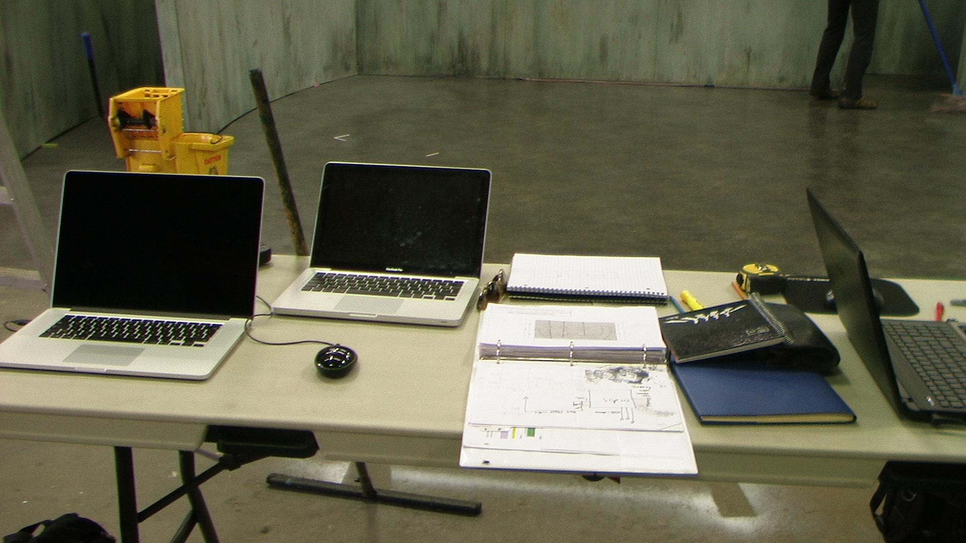 séance de travail sur le décor