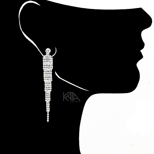 2107 Competition earrings in silver/clear kata.apparel