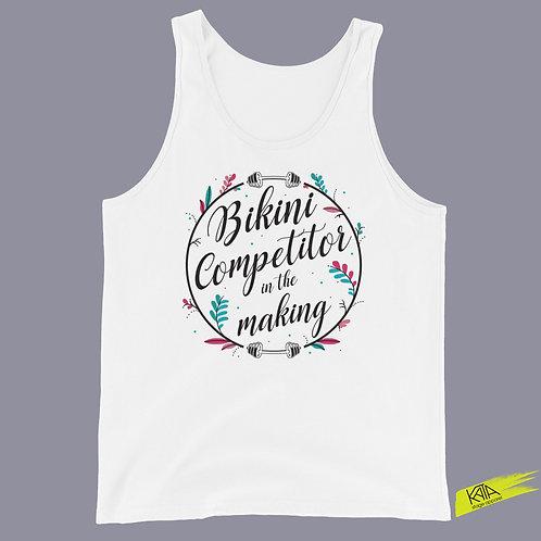 Bikini competitor in the making white tank top kata.apparel