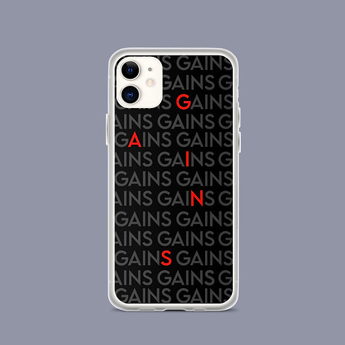 GAINS black iPhone case kata.apparel