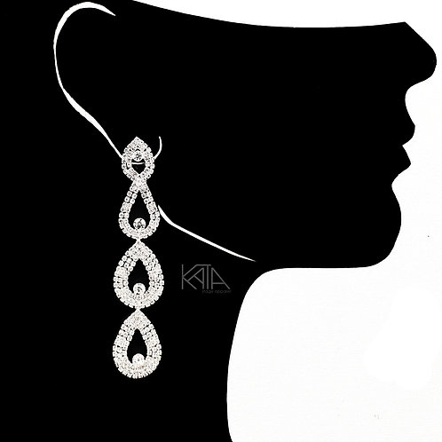 2105 Competition earrings in silver/clear kata.apparel