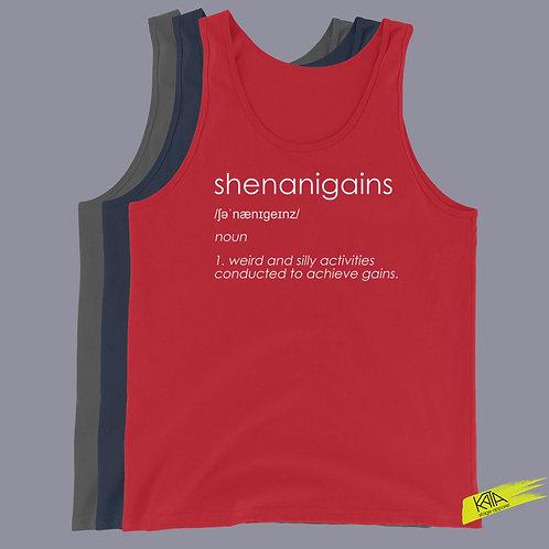 Shenanigains tank top in color kata.apparel