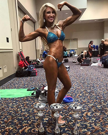 NPC bikini athlete