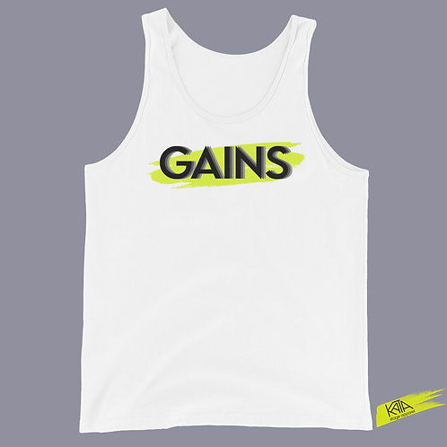 GAINS white tank top in kata.apparel