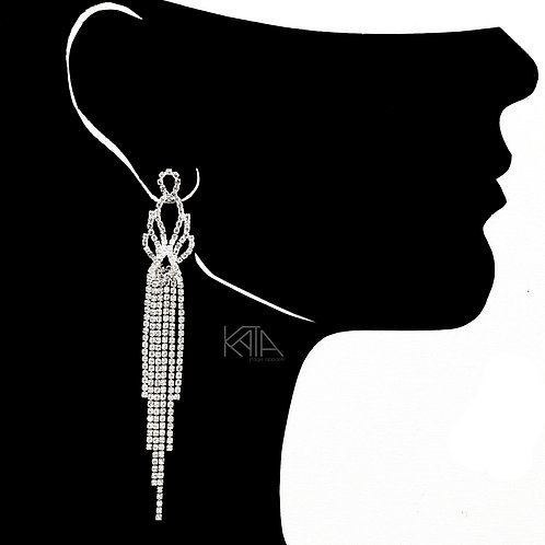 2101 Competition earrings in silver/clear kata.apparel
