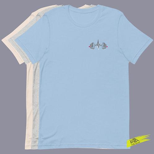Dumbbell cardiogram color tee kata.apparel