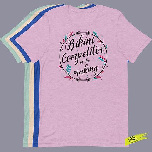 Bikini competitor in the making color tee kata.apparel