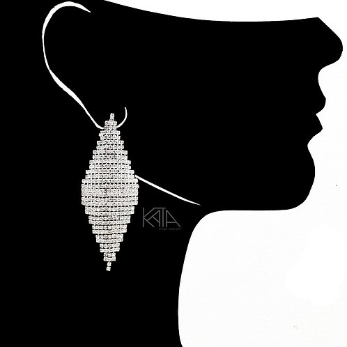 2102 Competition earrings in silver/clear kata.apparel