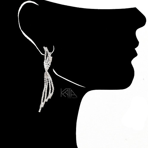 2104 Competition earrings in silver/clear kata.apparel