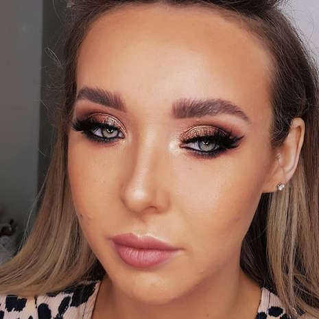 Bronzy Eye Makeup