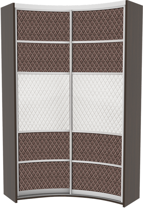 Комплект дверей для радиусного IN шкафа модель 3 Luxor