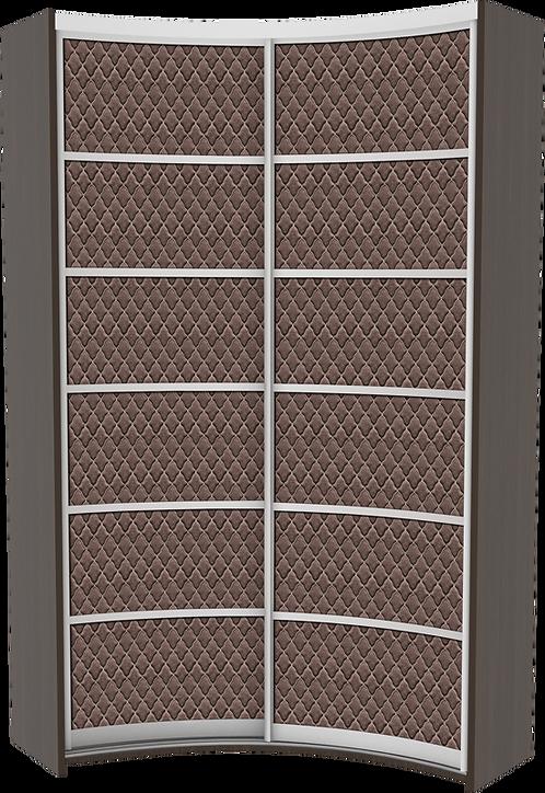 Комплект дверей для радиусного IN шкафа модель 4 Luxor