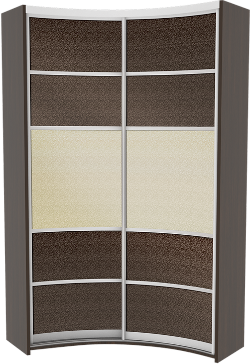 Комплект дверей для радиусного IN шкафа модель 3 Prestige