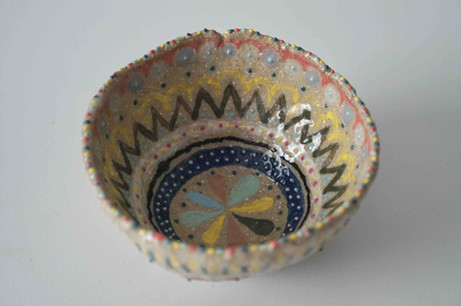 Hand-Painted Pinched Bowl