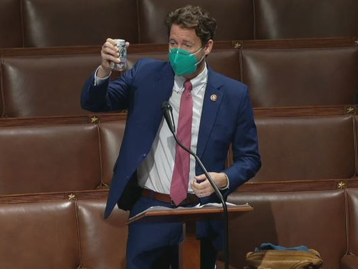 OUTGOING REP. CUNNINGHAM OPENS BEER ON HOUSE FLOOR IN GOODBYE TOAST TO BIPARTISANSHIP