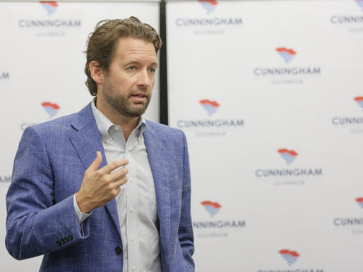 GUBERNATORIAL CANDIDATE JOE CUNNINGHAM HOLDS CAMPAIGN RALLY ON CAMPUS