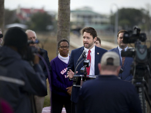 HOUSE PASSES SC REP. JOE CUNNINGHAM'S BILL TO BAN OFFSHORE DRILLING, SEISMIC TESTING