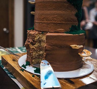 Cappucinno Cake with Chocolate Buttercream