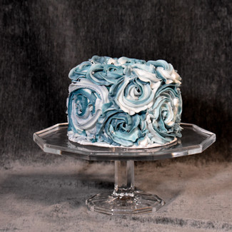 Stormy Blue Rosettes