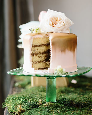 Vanilla Cake with Chocolate Buttercream. Photography by Colleen Mathias Photography