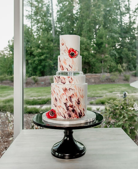 "18"" Black Tie Affair Cake Stand"