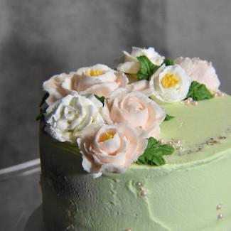 Green Semi Naked Cake