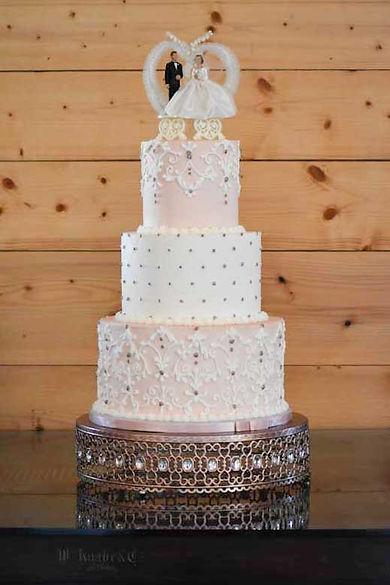 """16"""" Rose Gold Amalfi Cake Plateau"""