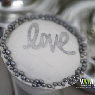 Silver and White Cupcake