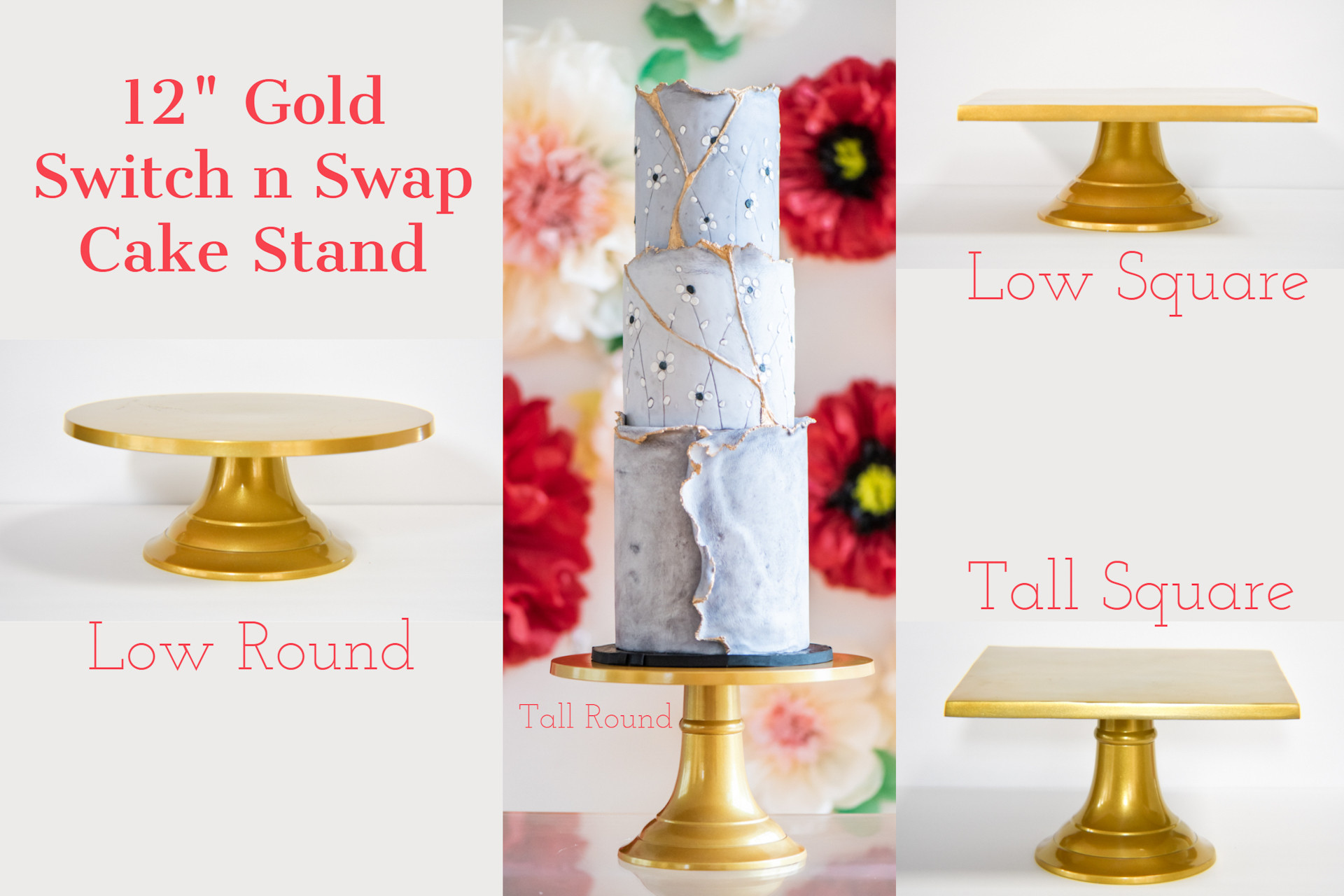 Gold Switch n Swap Cake Stand