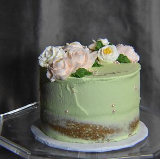 Green Semi Naked Cutting Cake