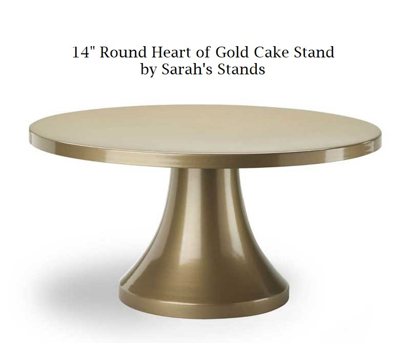"""14"""" Round Heart of Gold Cake Stand"""