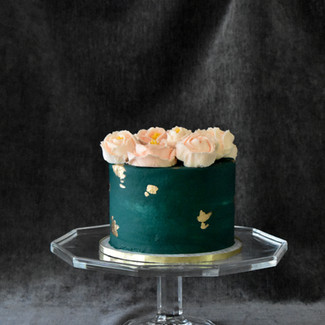 Deep Teal and Buttercream Roses