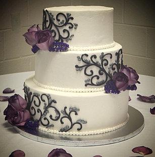 Black And Purple Wedding Cake