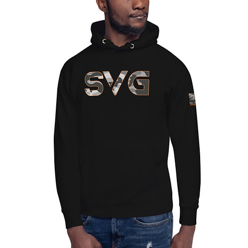 SVG Hoodie Snow Camo