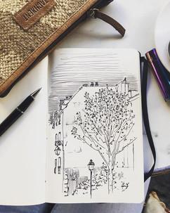 #sketch #line #cafe #paris #city