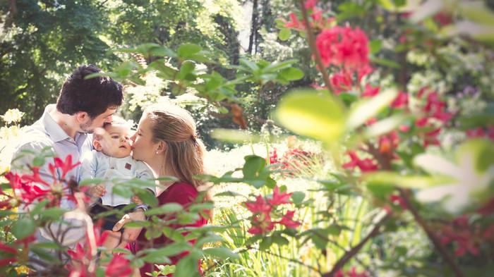 Séance portrait en famille au jardin botanique