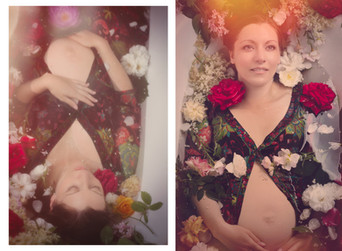 Maternité : séance en baignoire