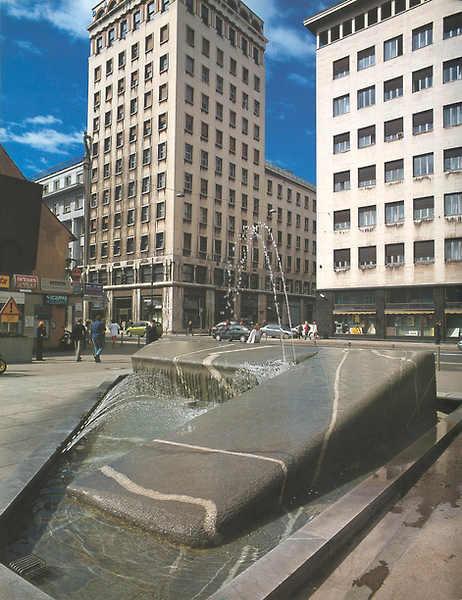 The Mobitel Fountain (in Ljubljana)