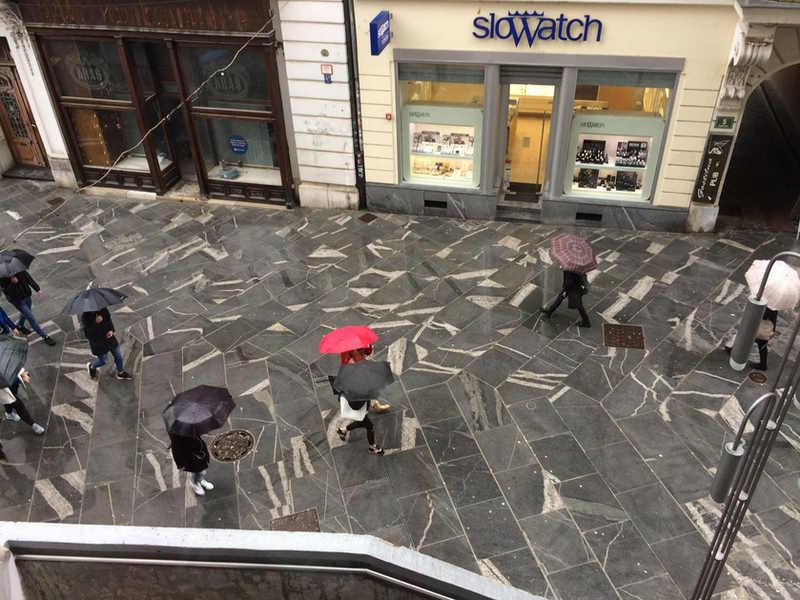 Street paved with grandorite